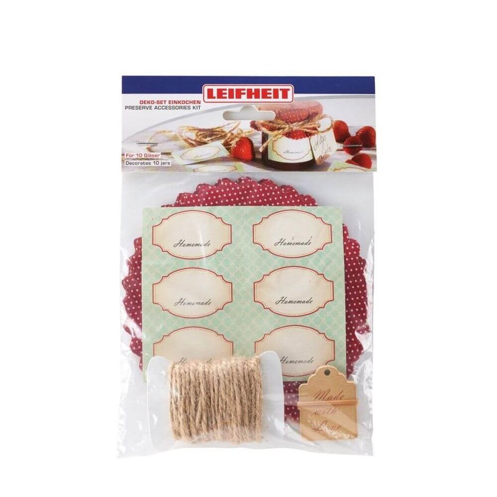 Leifheit dekorační set na zavařování 03194